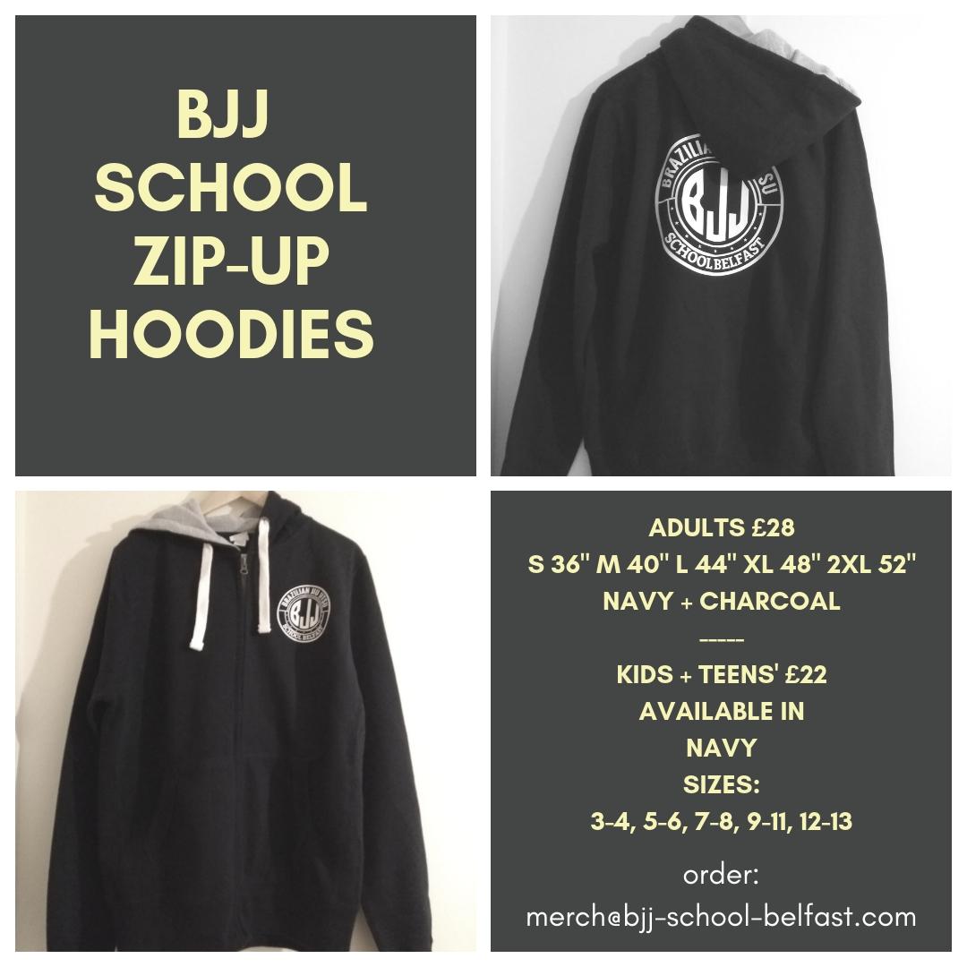 BJJ School Belfast Hoodies